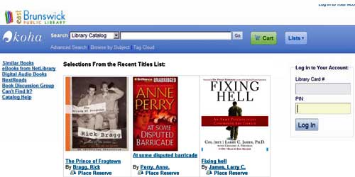 New Library Catalog Home Page