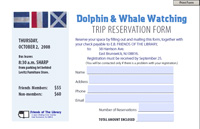 Dolphin & Whale Watching Trip Reservation Form