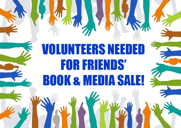 Volunteers Needed for Book & Media Sale