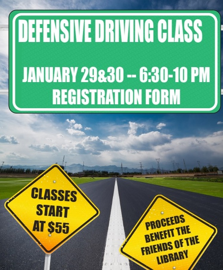 Register Now: Defensive Driving Class January 29 & 30