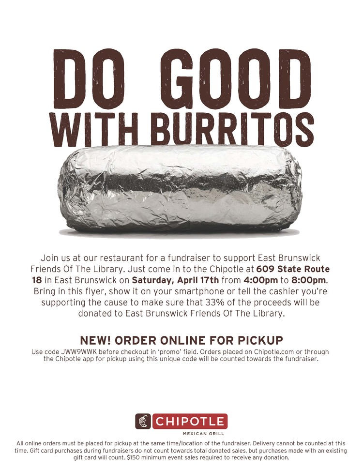 <strong>Friends Chipotle Fundraiser Saturday</strong>