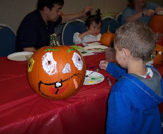 Family Pumpkin Decorating :: Click to see a larger version