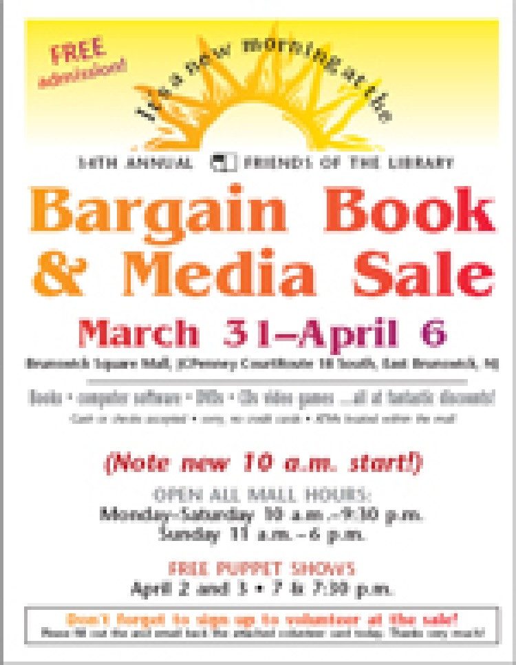 Early and Free:  It's a New Morning at the Friends' Big Book and Media Sale
