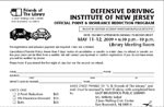 Register Now for a Defensive Driving Course to be held on May 11 and 12