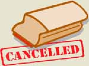 The NJLA Executive Board meeting scheduled for today at the library has been canceled.