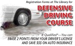 Defensive Driving Classes Set for October.